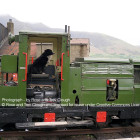 Photograph of a dog appearing to drive a train. Copyright Rose and Trev Clough and licensed for reuse under this Creative Commons License